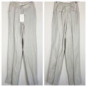 NWT MaxMara Linen Silk Trouser Pants Size 2